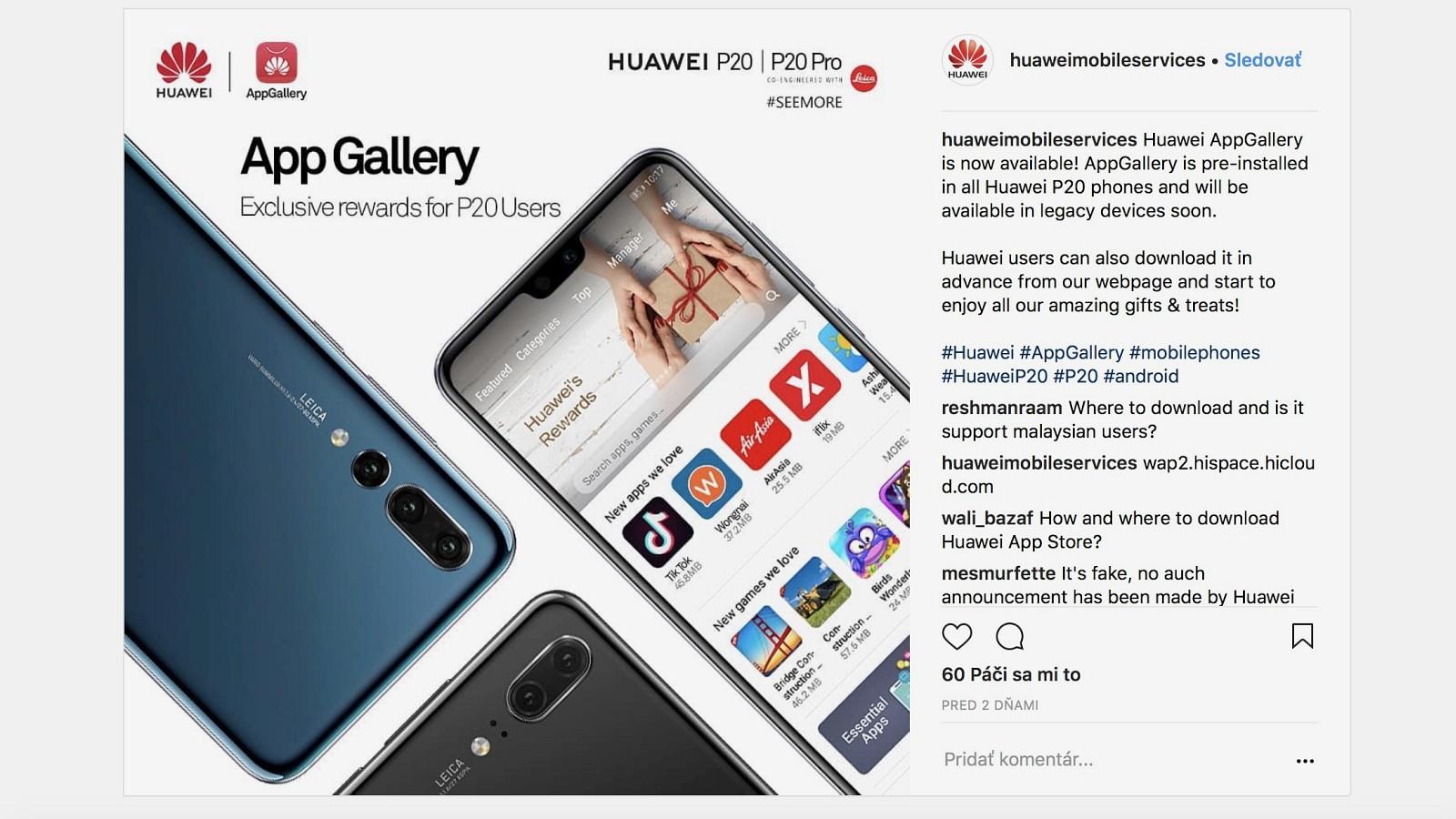 Huawei globálne sprístupnil svoj obchod s aplikáciami