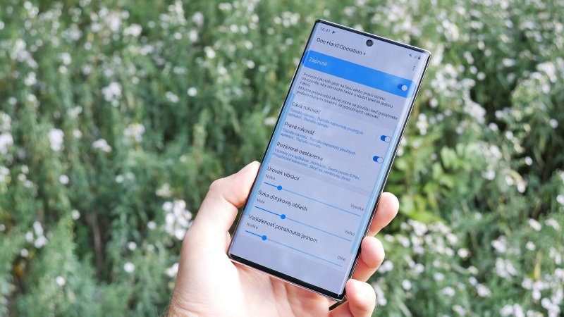 Samsung Galaxy Note 10+ aplikácia One Hand Operation