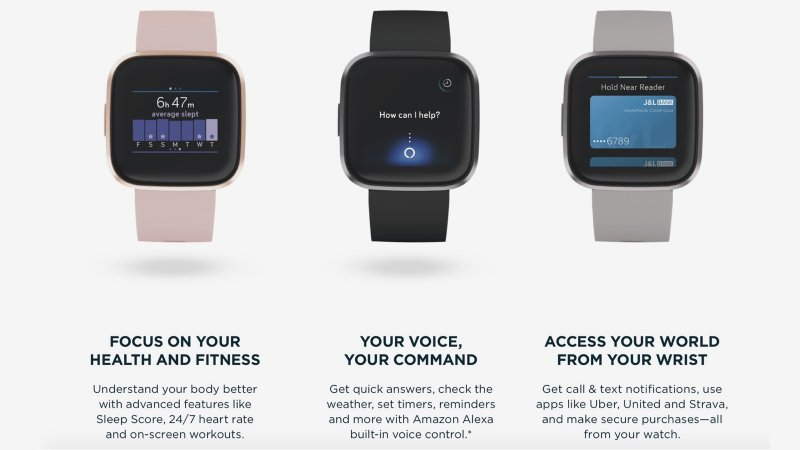 Fitbit Versa 2 press image