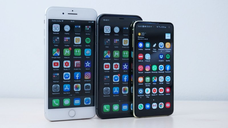 Apple iPhone 11 - porovnanie s iPhone 8 Plus a Galaxy S10e