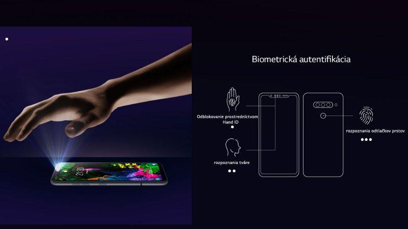 LG G8S ThinQ biometrická autentifikácia