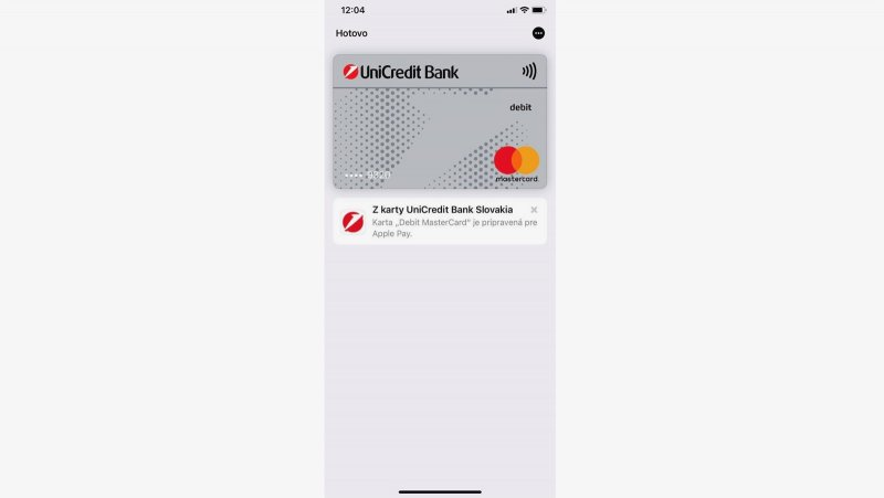 Apple Pay s UniCredit Bank